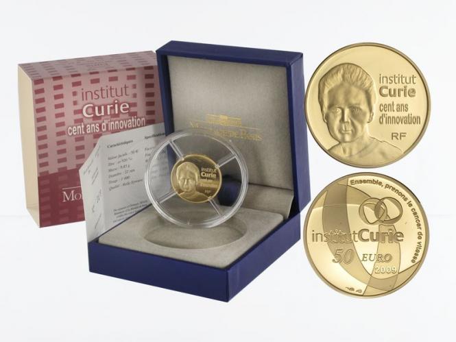 Frankreich 50 Euro Gold, 2009, Institut Curie