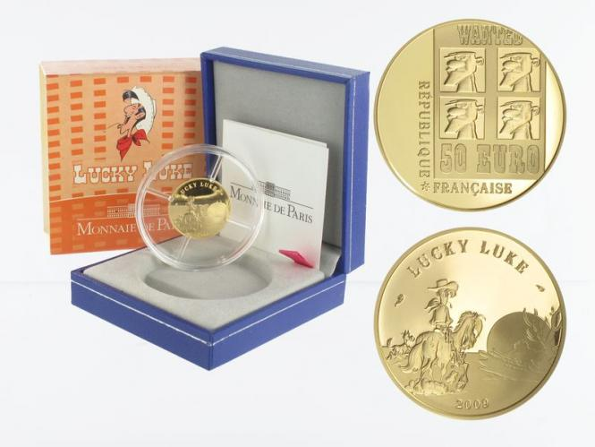 Frankreich 50 Euro Gold, 2009, Lucky Luke