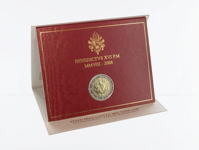 Vatikan 2 Euro Münze, 2008, Paulusjahr im Folder
