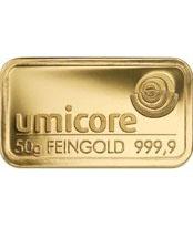 50 Gramm Goldbarren 999,9 Feingold Folie