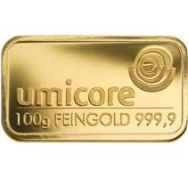 100 Gramm Goldbarren 999,9 Feingold Folie