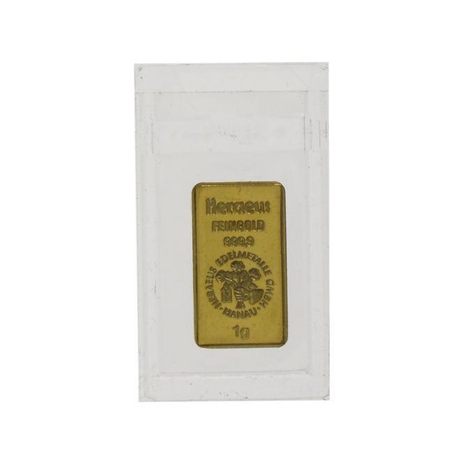 1 Gramm Goldbarren, Folie 999,9 Feingold