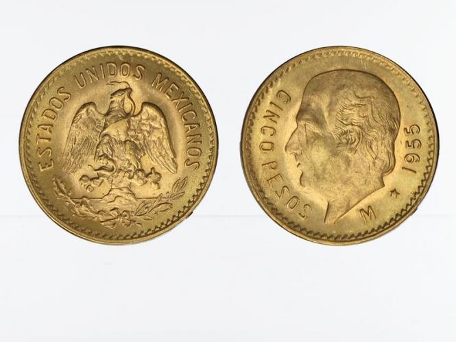 Mexiko  5 Pesos Hildalgo,