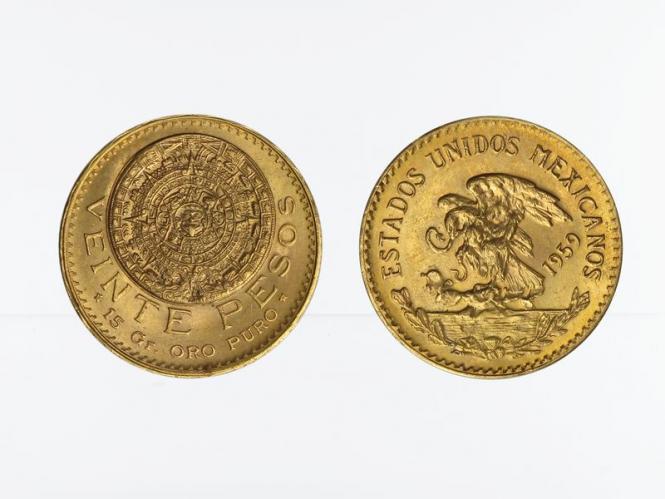 Mexiko  20 Pesos Azteca,