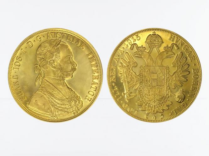 Österreich 4 Gold Dukaten 1915