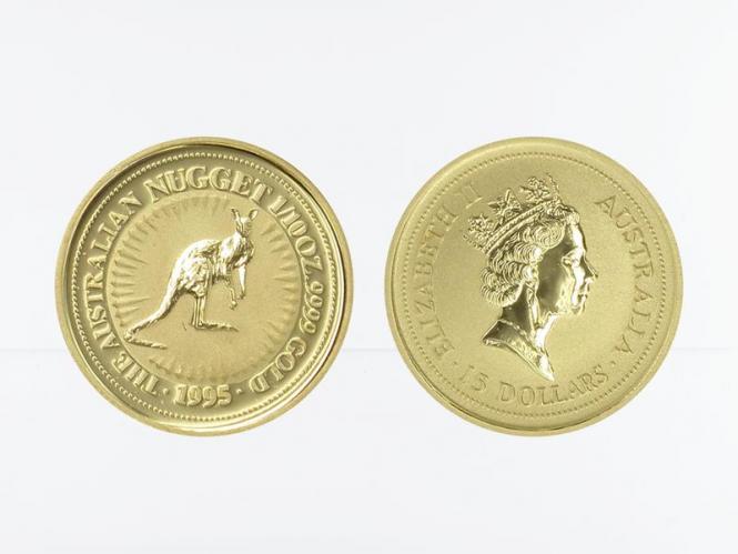 Australien 15 $ Nugget Känguru, 1/10 Unze  1995