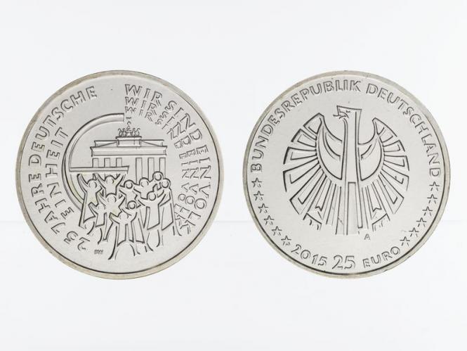 25 Euro 25 Jahre Deutsche Einheit  Silber 2015