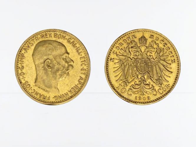 Österreich 10  Kronen 1909 (St. Schwartz)
