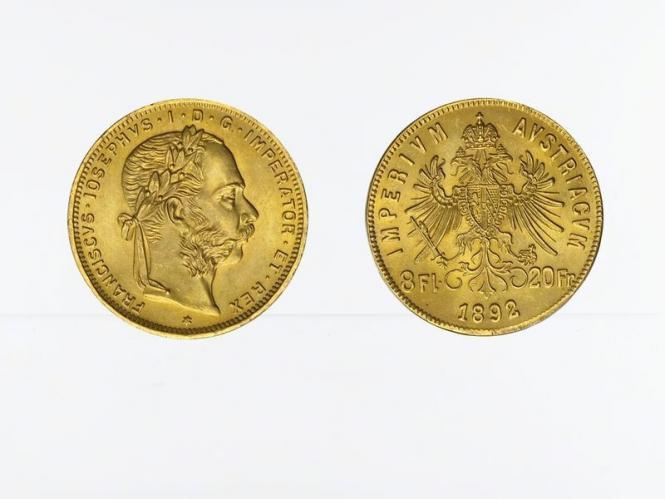 Österreich 8 Florin/ (20 Fr.) 1892