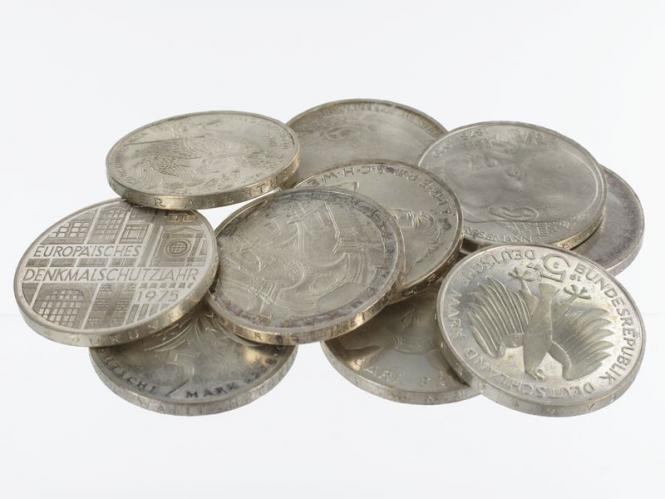 BRD 5 DM Gedenkmünzen 1966-78 (10)