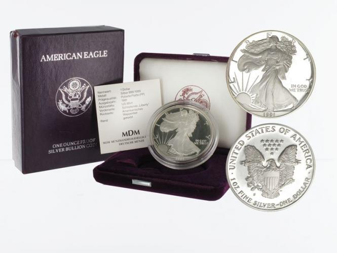 USA 1 Dollar Silver Eagle 1991 PP (proof)