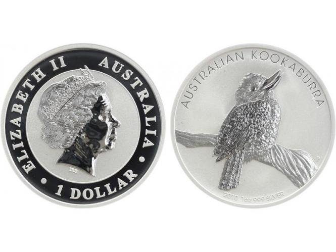 Australien 1$ Kookaburra 2010, 1 oz  Silber