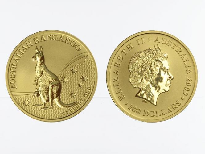Australien 100 $ Nugget Känguru, 1 Unze  2009