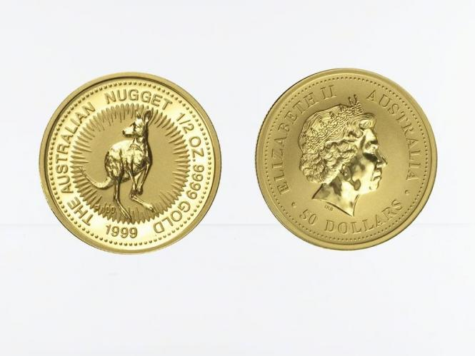 Australien 50 $ Nugget Känguru, 1/2 Unze  1999