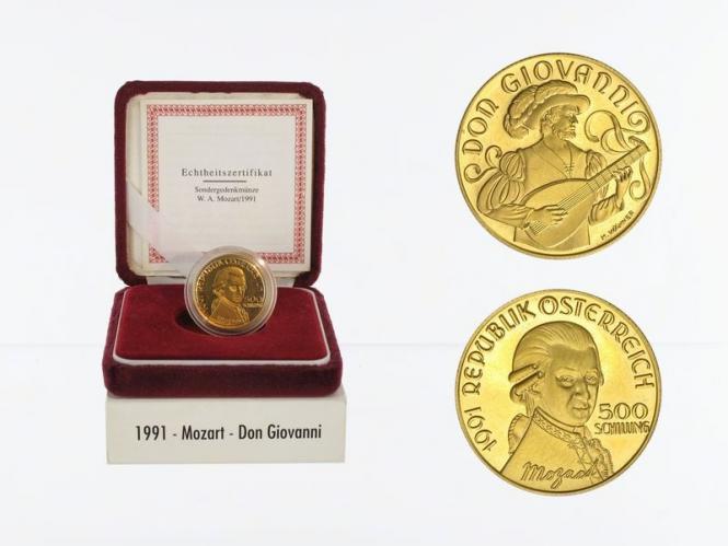 Österreich 500 Sh. Gold, 1991, Don Giovanni