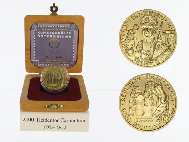 Österreich 1000 Sh. Gold, 2000, Heidentor,