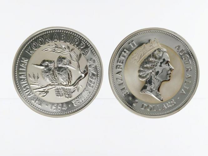 Australien 2$ Kookaburra 1994, 2 oz  Silber