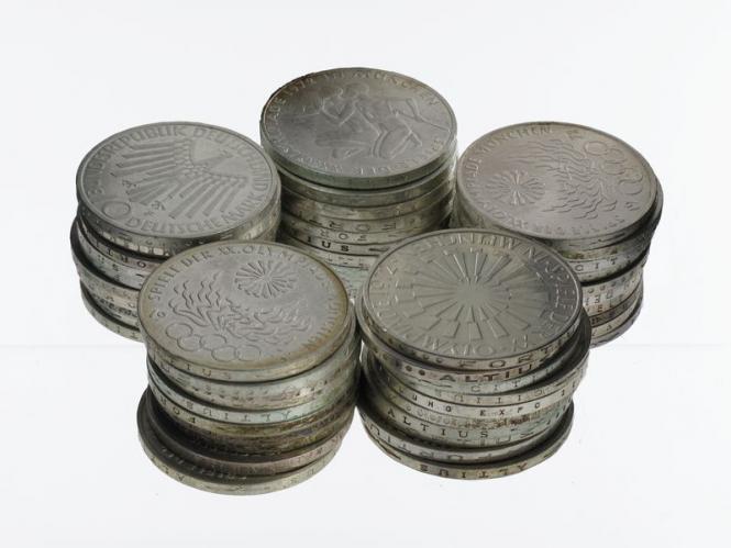 BRD 10 DM Gedenkmünzen 1972-97 (50)