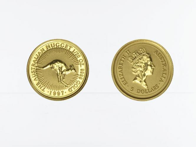 Australien 5 $ Nugget Känguru, 1/20 Unze 1997