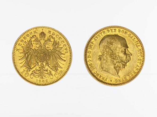 Österreich 10  Kronen/Corona 1906