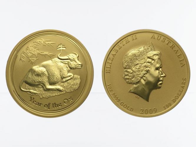 Australien 100 $ Lunar II  Ochse, 1 Unze  2009