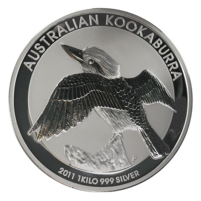 Australien 30$ Kookaburra 2011, 1 Kilo Kg  Silber, Neu
