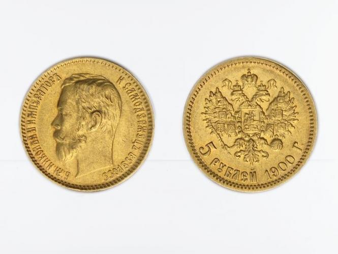 Russland 5 Rubel Nikolaus II,  1900