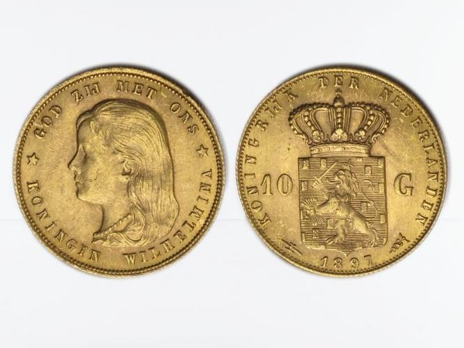 Niederlande 10 Gulden Gold Königin Wilhelmina I. 1897