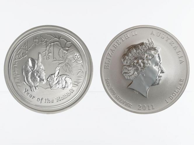 Australien 1$ Hase Lunar II  2011, 1 oz  Silber