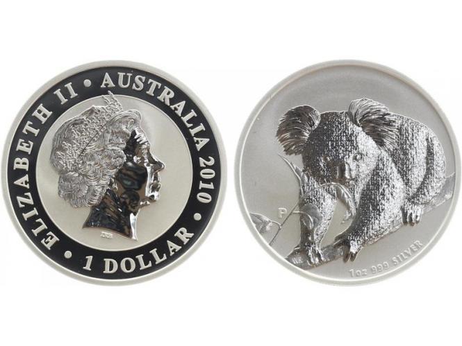 Australien 1$ Koala 2010, 1 Unze  Silber