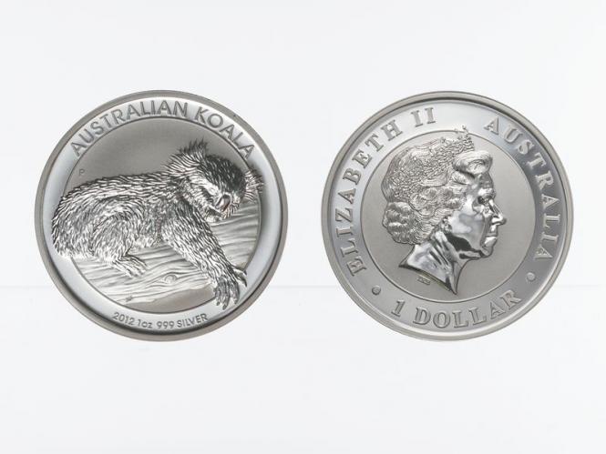 Australien 1$ Koala 2012, 1 Unze  Silber
