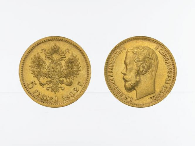 Russland 5 Rubel Nikolaus II,  1902