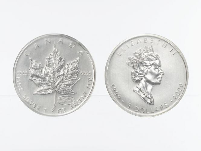Kanada 5$ Maple Leaf 1999, Privy Mark  Feuerwerk