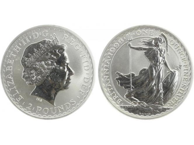 GB 2 Pfd. Silber Britannia 1998, 1 oz