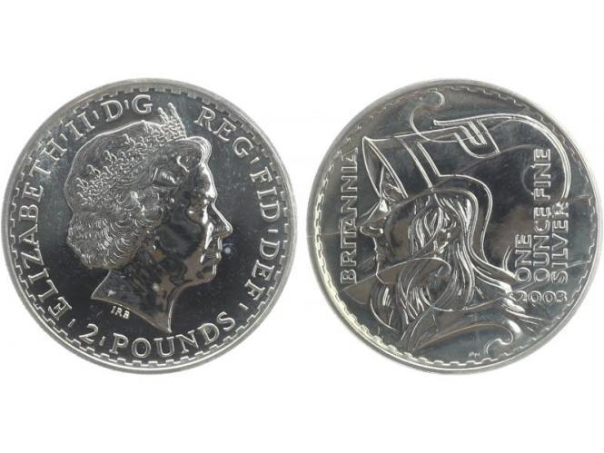 GB 2 Pfd. Silber Britannia 2003, 1 oz