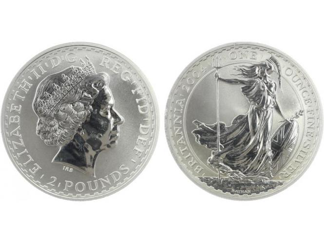 GB 2 Pfd. Silber Britannia 2004, 1 oz