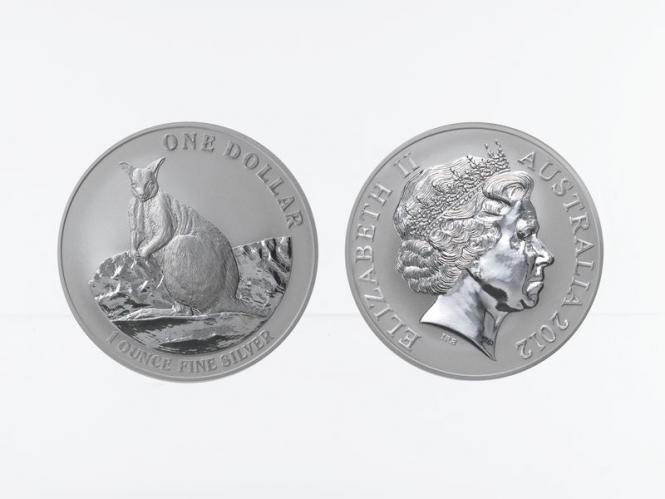 Australien 1$ Känguru 2012, 1 oz  Silber