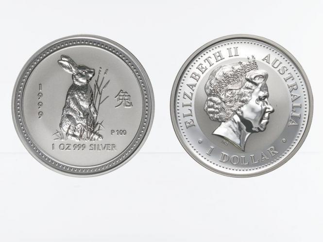 Australien 1 $ Hase Lunar I  1999, 1 oz  Silber