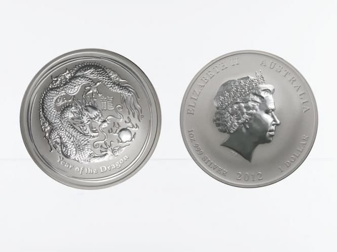 Australien 1$ Drache Lunar II  2012, 1 oz  Silber