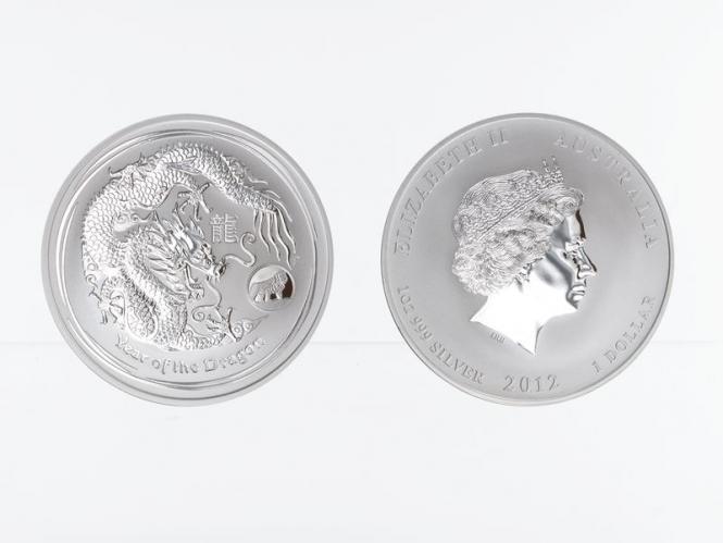 Australien 1$ Drache Lunar II  2012, Privy Mark