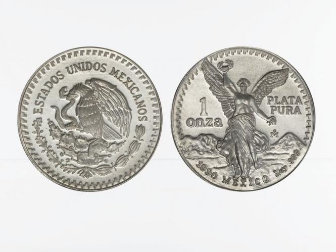 Mexiko Libertad, 1990 1 onza mit geriffeltem Rand
