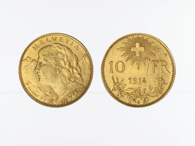Schweiz 10 Franken Vreneli Goldmünze 1914