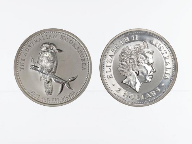 Australien 2$ Kookaburra 2005, 2 oz  Silber