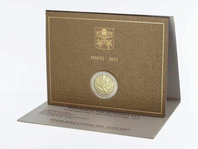 Vatikan 2 Euro Münze, 2011, Weltjugendtag im Folder