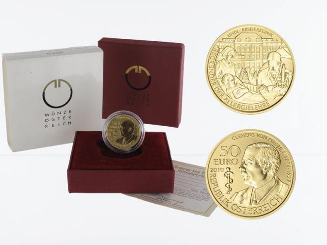 Österreich 50 Euro Gold, 2010, Clemens von Pirguet
