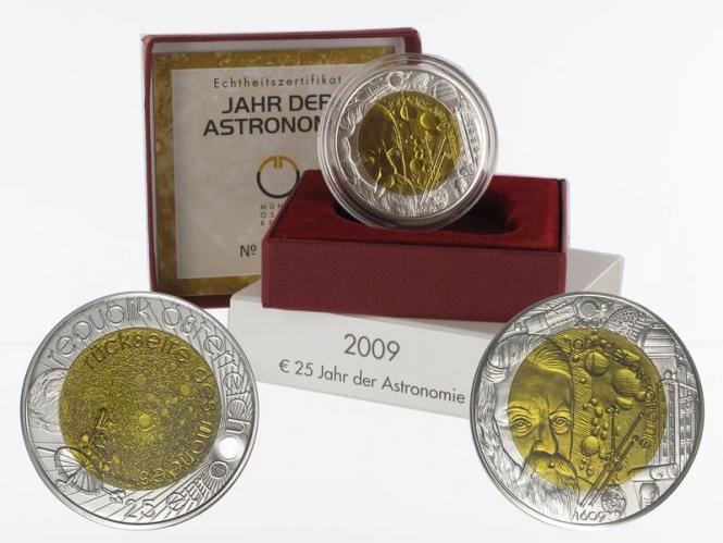 Österreich 25 Euro Niob, Astronomie 2009