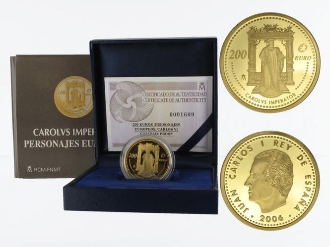 Spanien 200 Euro Gold, 2006, Kaiser Karl V.