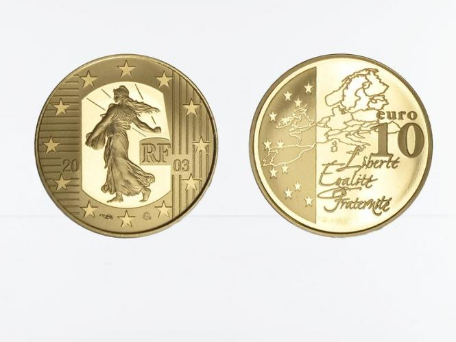 Frankreich 10 Euro Gold, 2003,  Säerin