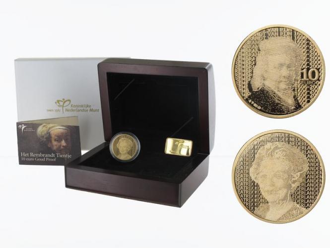 Niederlande 10 Euro Gold, 2006, Rembrandt,