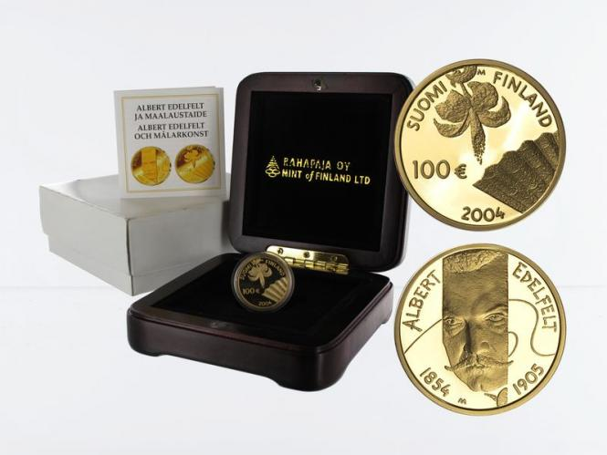 Finnland 100 Euro Gold, 2004, Albert Edelfelt, original